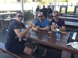 Post race beers